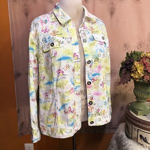 CJ Banks Plus size 1X Floral Jacket Pastel   🐝